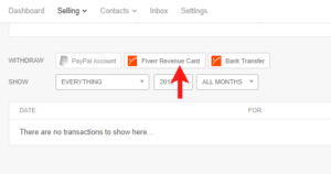fiverr revenue card withdraw to payoneer