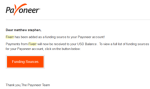fiverr withdraw to payoneer