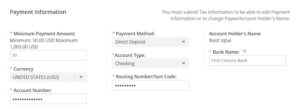 CJ Affiliate Payoneer payment
