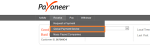 Payoneer Global Payment